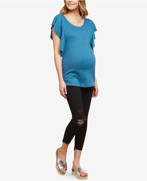 67b2df6717a Motherhood Maternity Jessica Simpson Maternity Distressed Skinny Jeans ...