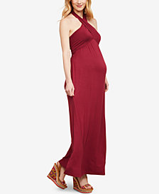 Motherhood Maternity Halter Maxi Dress