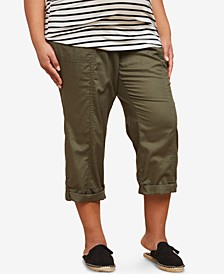 Plus Size Staight-Leg Cuffed Pants