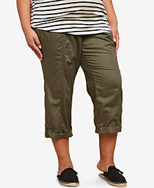 Motherhood Maternity Plus Size Staight-Leg Cuffed Pants
