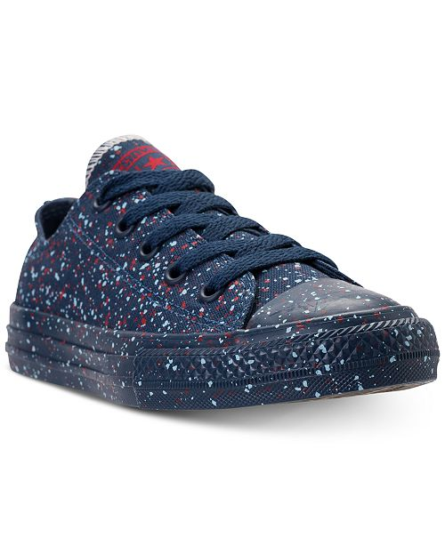 2c2cf81d56d ... Converse Little Boys  Chuck Taylor Ox Splatter Casual Sneakers from  Finish ...