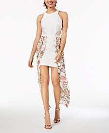 Material Girl Juniors' Walk-Through Bodycon Maxi Dress, Created for Macy's