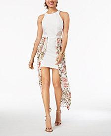 Material Girl Juniors' Walk-Through Bodycon Maxi Dress, Created for Macy's