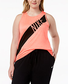 Nike Plus Size Dri-FIT Mesh-Back Tank Top
