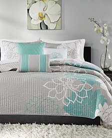 Madison Park Lola 6-Pc. Full/Queen Coverlet Set