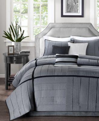 Bridgeport 7-Pc. Faux-Suede Queen Comforter Set