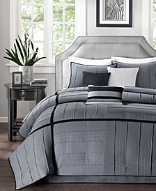 Bridgeport 7-Pc. Faux-Suede Queen Comforter Set