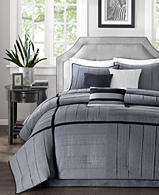 Madison Park Bridgeport 7-Pc. Faux-Suede Queen Comforter Set