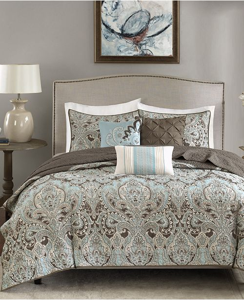 Madison Park Geneva 6-Pc. Quilted King/California King Coverlet Set