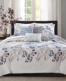 Luna 6-Pc. Full/Queen Coverlet Set