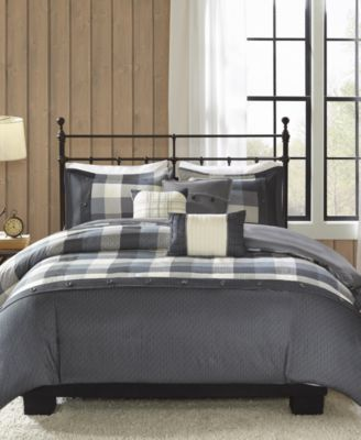 Ridge 6-Pc. Full/Queen Duvet Cover Set