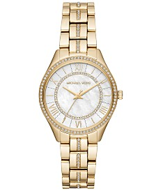 Michael Kors Women's Mini Lauryn Gold-Tone Stainless Steel Bracelet Watch 33mm