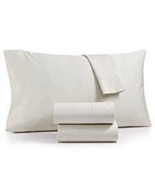 CLOSEOUT! Hotel Collection Cotton 525-Thread Count 4-Pc. Crosshatch Full Sheet Set, Created for Macy's