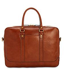 Patricia Nash Men's Heritage Leather Slim Briefcase