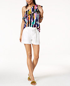 Trina Turk x I.N.C. Ruffle Top & Belted Shorts, Created for Macy's