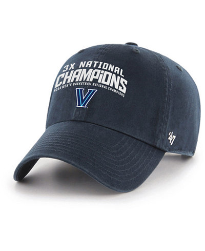 '47 Brand Villanova Wildcats Basketball Multi Champ Clean Up Cap