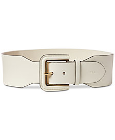 Lauren Ralph Lauren Wide Covered-Buckle Stretch Belt