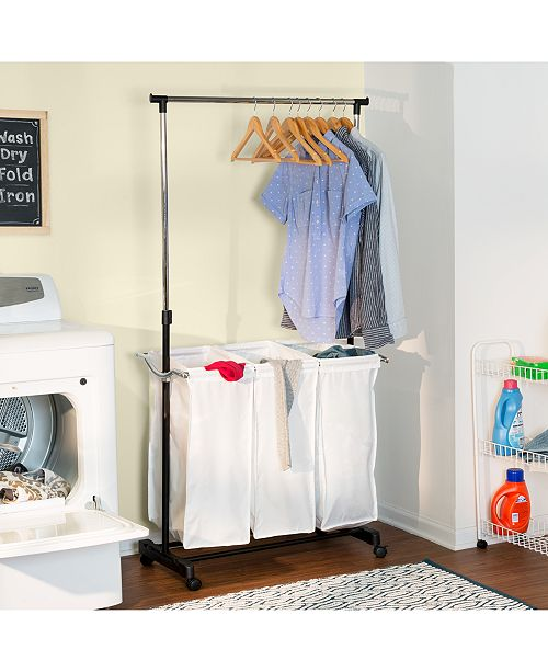 Honey Can Do Rolling Laundry Cart With Hanging Bar Reviews