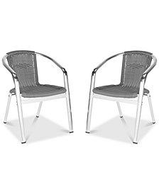 Baskot Accent Chair (Set Of 2), Quick Ship