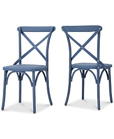 Maxwell Outdoor Dining Chairs (Set Of 2), Quick Ship