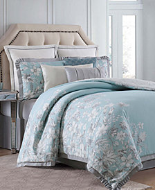 Charisma Molani Cotton 4-Pc. Reversible California King Duvet Cover Set