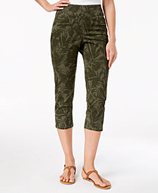 Style & Co Printed Pull-On Capri Pants, Created for Macy's