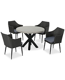 Mitchell 5-Pc. Outdoor Dining Set, Quick Ship