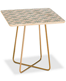Deny Designs Caroline Okun Scandinavian Daisy Chain Square Side Table