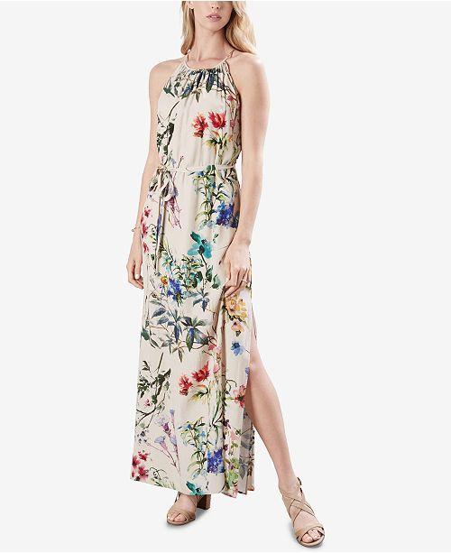 Karen Maxi Kane Floral Print Floral Print Halter Dress rrxpw