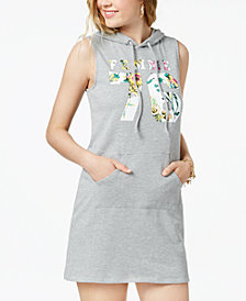Material Girl Juniors' Printed Hoodie Dress, Created for Macy's