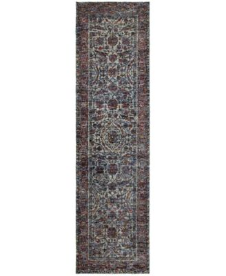 "Journey  Pena Blue 2'3"" x 8' Runner Rug"