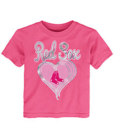 Outerstuff Boston Red Sox Unfoiled Love T-Shirt, Toddler Girls (2T-4T)