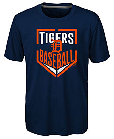 Outerstuff Detroit Tigers Run Scored Poly T-Shirt, Big Boys (8-20)