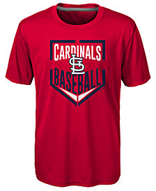 Outerstuff St. Louis Cardinals Run Scored Poly T-Shirt, Big Boys (8-20)