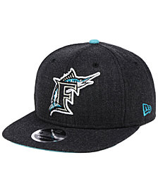New Era Florida Marlins Heather Hype 9FIFTY Snapback Cap
