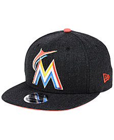 New Era Miami Marlins Heather Hype 9FIFTY Snapback Cap