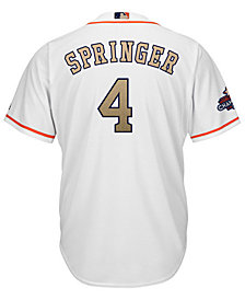 Majestic Men's George Springer Houston Astros Gold Replica Cool Base Jersey
