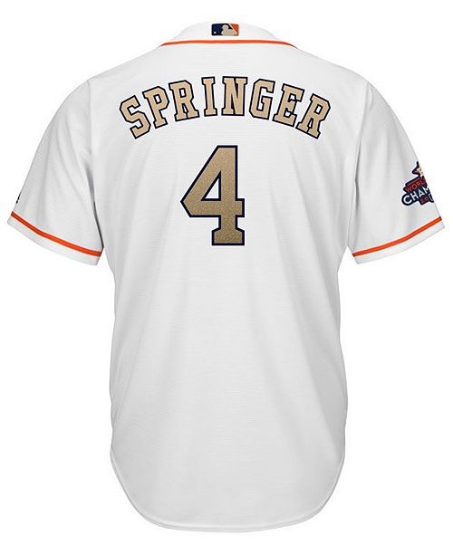 51f010ff87a ... Majestic Men s George Springer Houston Astros Gold Replica Cool Base  Jersey ...