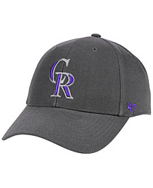 '47 Brand Colorado Rockies Charcoal MVP Cap