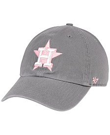 '47 Brand Houston Astros Dark Gray Pink CLEAN UP Cap
