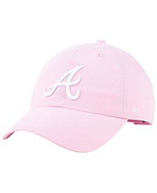 Atlanta Braves Pink CLEAN UP Cap