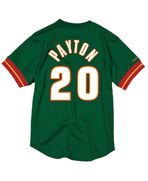 sale retailer 329a4 f9fdf Mitchell & Ness Men's Gary Payton Seattle SuperSonics Name ...
