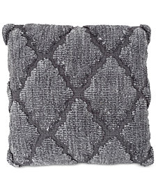 "Geometric Textured Lattice Trellis 18"" Decorative Throw Pillow"