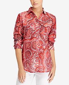 Lauren Ralph Lauren Paisley-Print Cotton Shirt