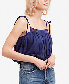 Free People Eternal Love Cotton Embroidered Tank