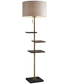 Adesso Griffin Shelf Floor Lamp