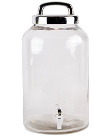 Home Essentials Cellini 2.32-Gallon Beverage Dispenser with Silver-Tone Lid