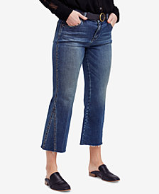 Free People Studded Flare-Leg Jeans