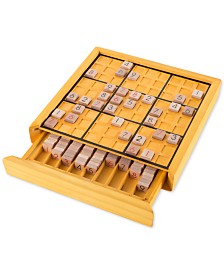 100-Pc. Wood Sudoku Board Game Set
