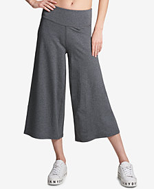 DKNY Sport High-Rise Control Wide-Leg Cropped Pants
